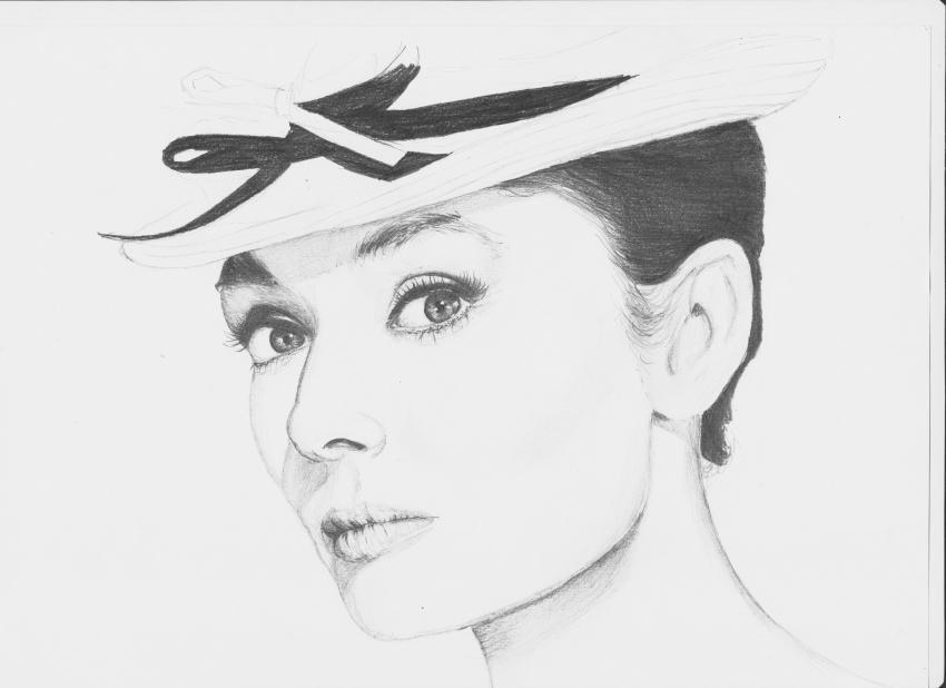 Audrey Hepburn por ciastkozdzemem